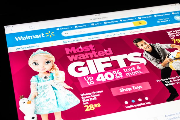 Walmart website homepage