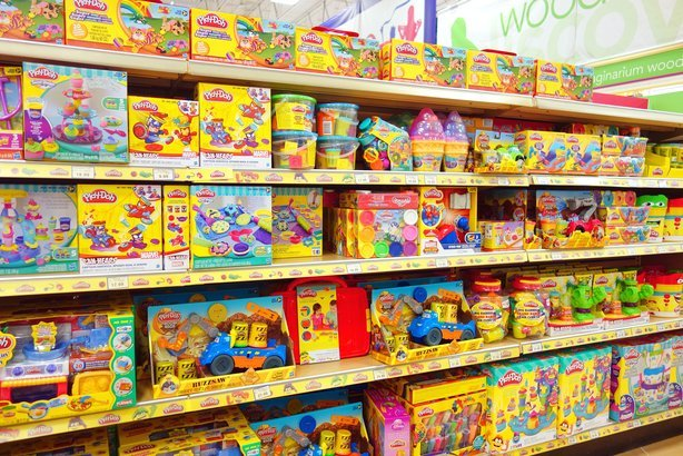 "Play Dough selection at a Toys ""R"" Us store"