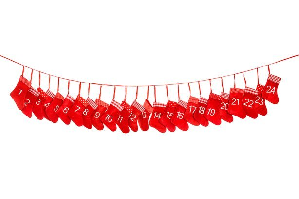 red christmas socks advent calendar banner 1-24