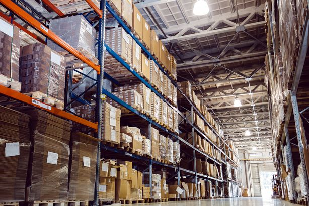 items in a warehouse