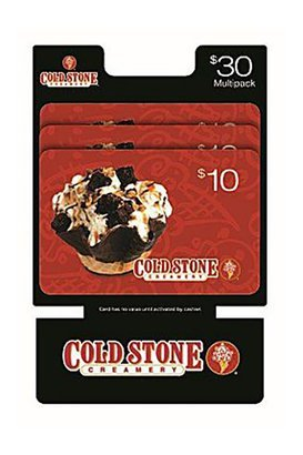 Cold Stone $30 Multi-Pack 3/$10 Gift Cards