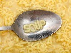 'soup' in letters in soup