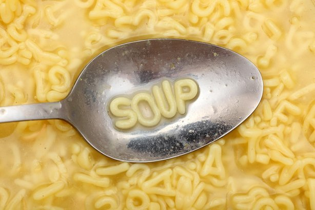 'soup' in letters in soup