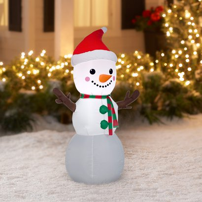 INFLATABLE CHRISTMAS SNOWMAN 6.5 FT DECORATION EASY SETUP IN SECONDS