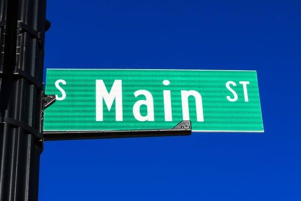 Main Street sign on a street pole