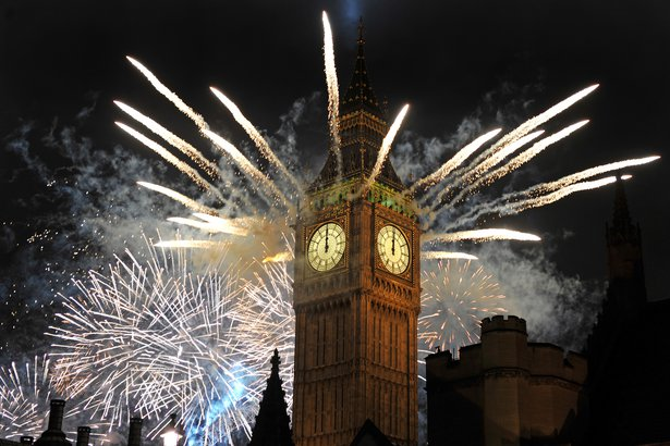 New Year's Eve in London, England