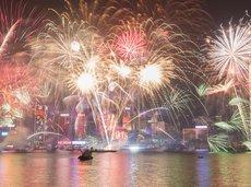 New Year's Eve in Hong Kong, China
