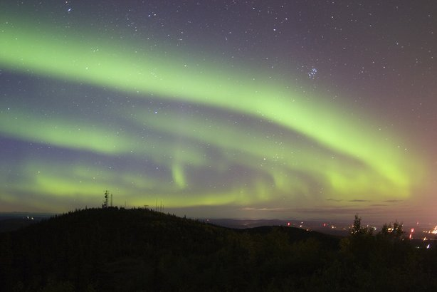 northern lights above Fairbanks, Alaska