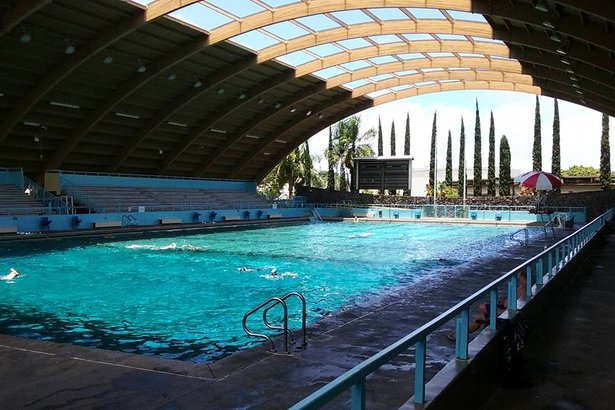 Indoor pool with slide  50 Indoor Pools Across America | Cheapism