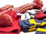 assortment of winter accessories