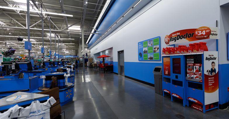 Walmart store interior in Portland, Oregon