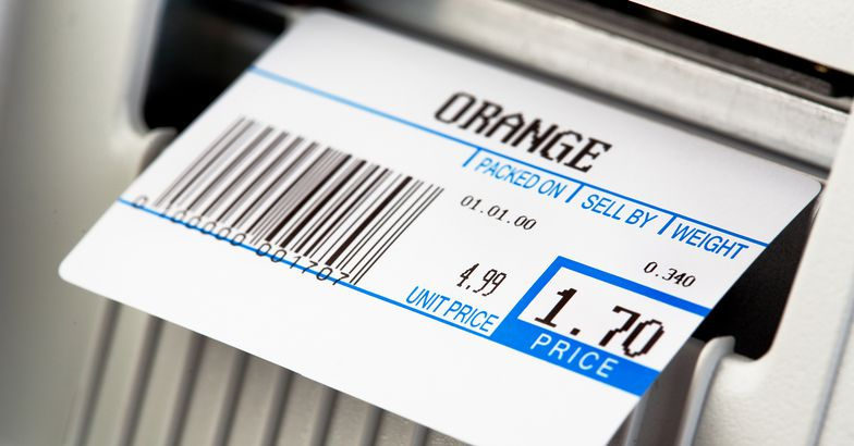 price tag for oranges