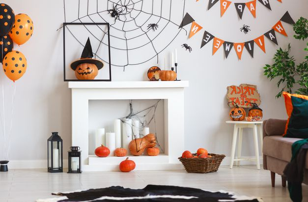 Spooky spider web Halloween