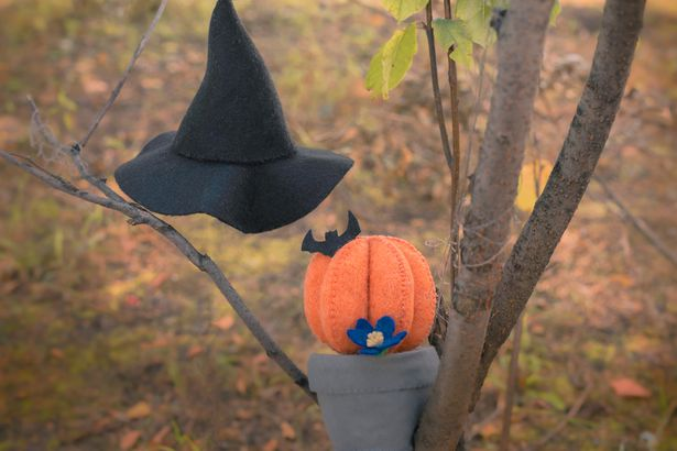 Floating witch hat Halloween