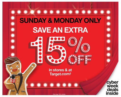 15% off Target Cyber Monday ad