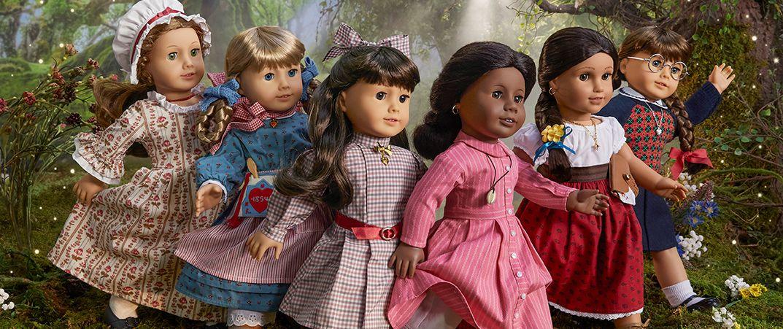 35th anniversary versions of six original American Girl historic dolls
