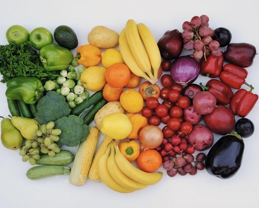 fruits and vegetables in color