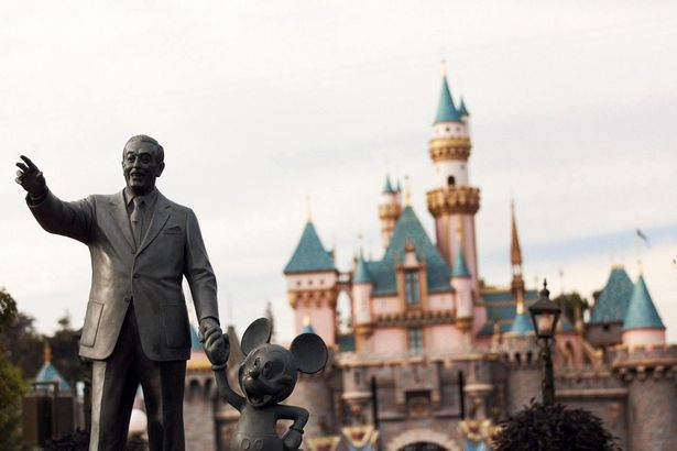 Statue of Walt Disney and Mickey Mouse at Disneyland