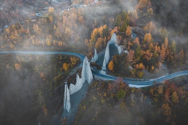 Swiss Pyramids by drone