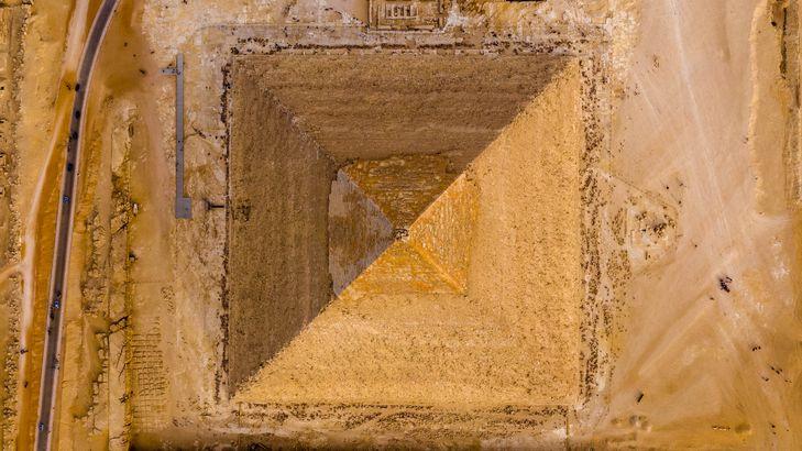 Giza Pyramids by drone