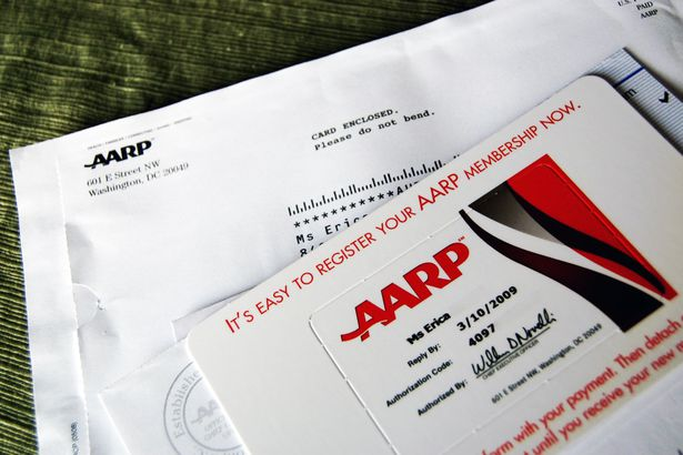 aarp card and envelope