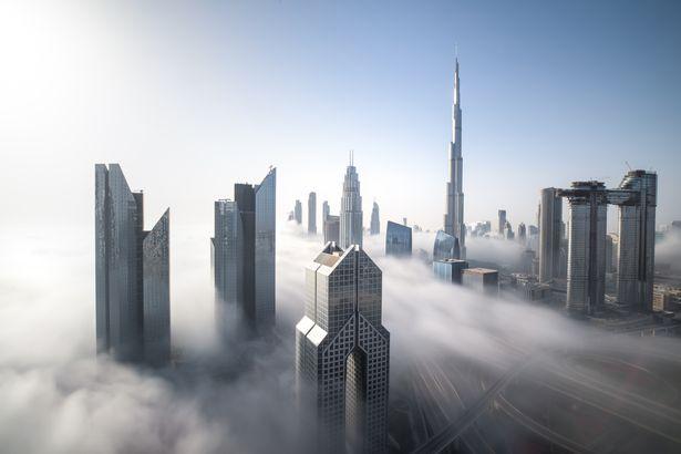 Foggy Dubai by drone