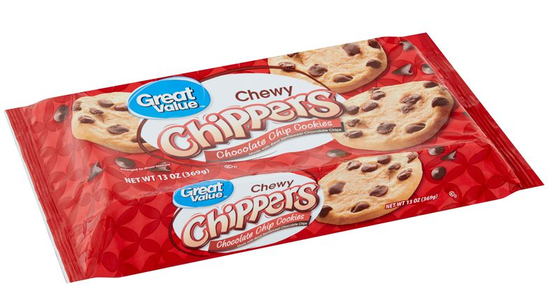 walmart great value chewy chippers chocolate chip cookies