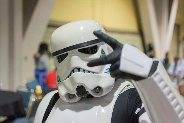 Star Wars Storm Trooper Costume at The Long Beach Comic Con