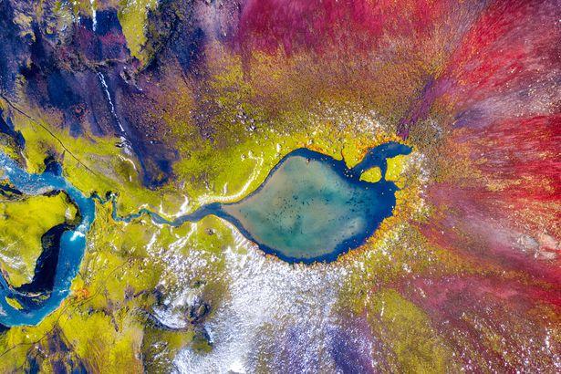 Icelandic volcanic crater