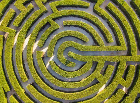 Ayia Napa, Cyprus maze park by drone