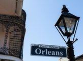 Orleans street sign in the French Quarter in New Orleans, Louisiana
