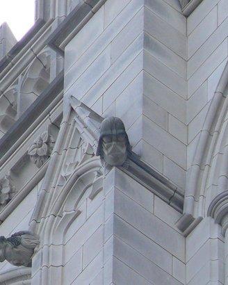 Darth Vader grotesque at National Cathedral