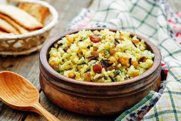 Mediterranean Rice and Chickpea Salad