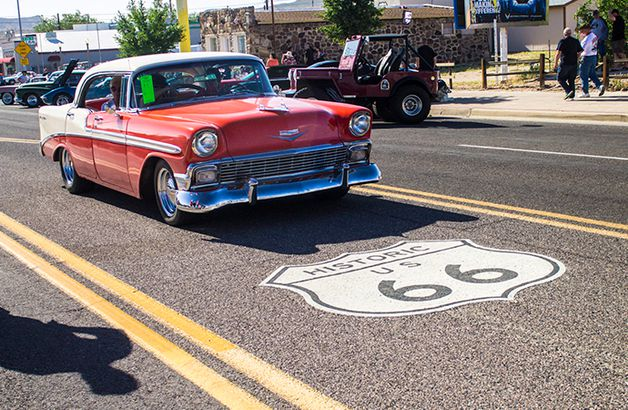Car on Route 66