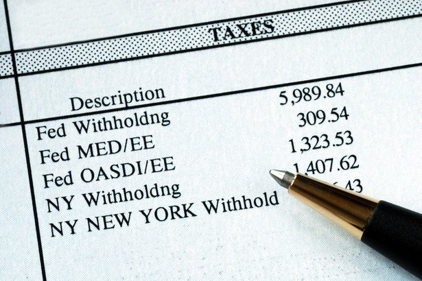 list of withholding taxes from the pay stuff