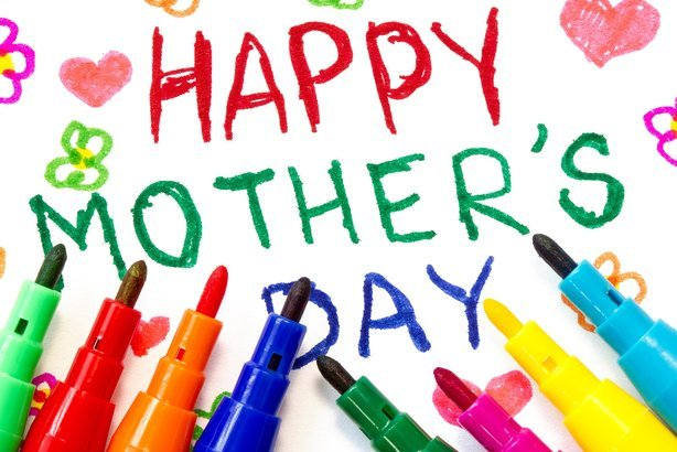 'Happy Mother's Day' card made by a child