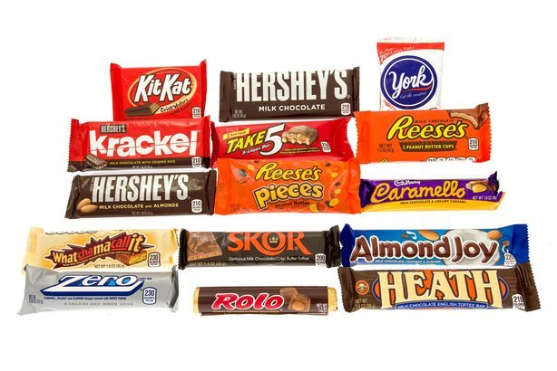 candy bars made by the Hershey company