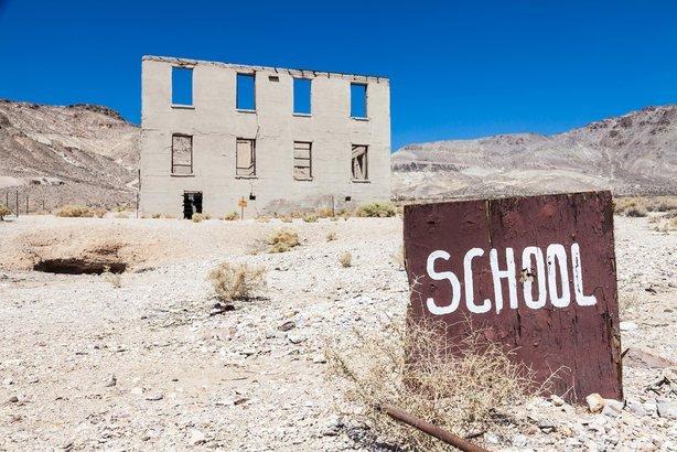 ghost town school
