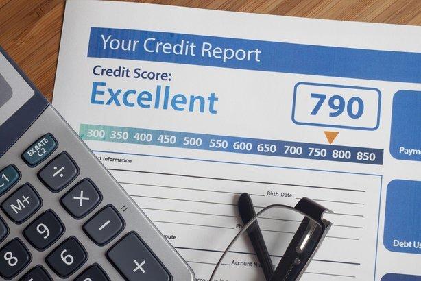 credit report score on desk