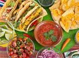 selection of Mexican food