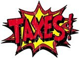 'TAXES' cartoon