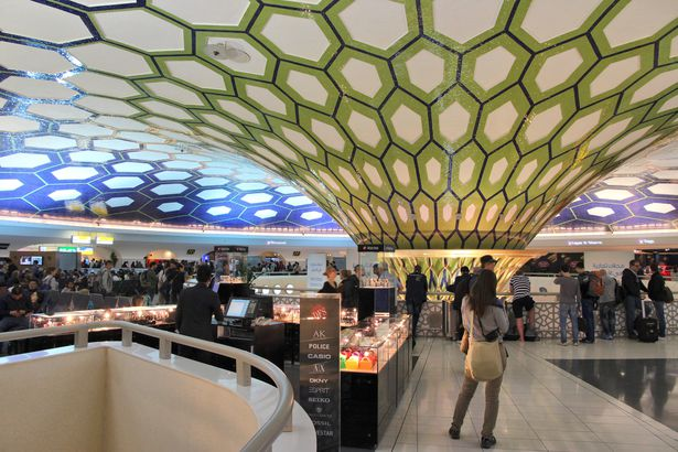 Abu Dhabi International ceiling