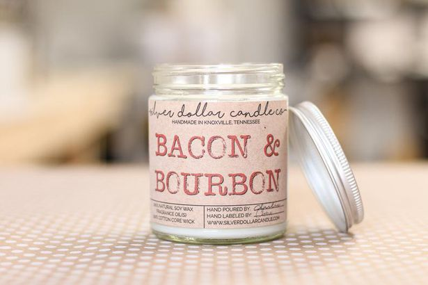 Bacon and Bourbon candle