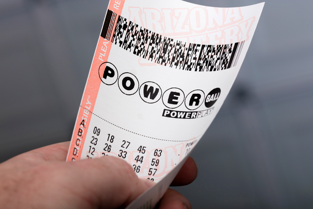 Holding a Power Ball lottery ticket