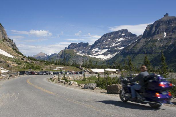 Biking near Glacier National Park