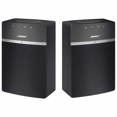 Bose Wireless Soundtouch speakers, black.