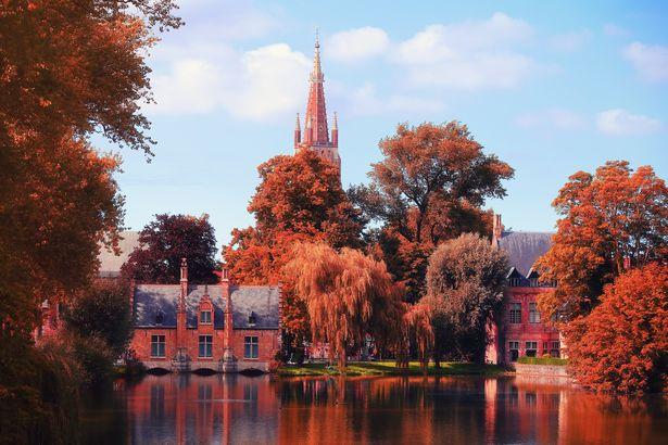 Fall in Brugge, Belgium