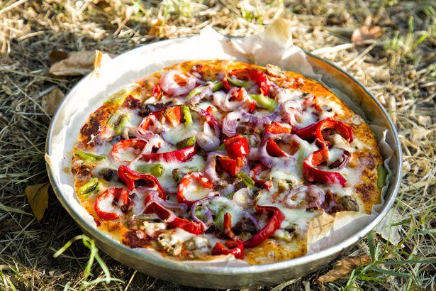 Chorizo and manchego pizza