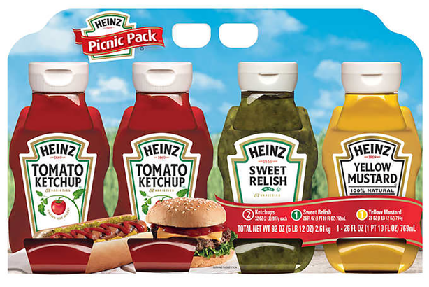 Variety pack of Heinz condiments