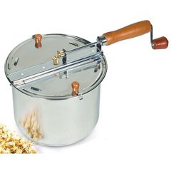 Cook N Home Aluminum Popcorn Popper Stove-Top